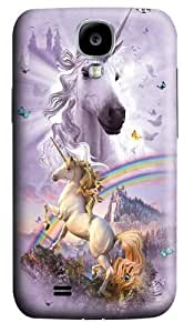 Double Rainbow Unicorn PC Case Cover for Samsung Galaxy S4 and Samsung Galaxy I9500 3D