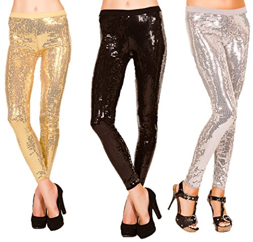 Just One Womens Leggings All Over Sequin Sparkle Party Pants. Get Noticed.