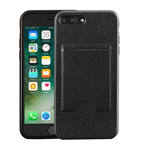 iPhone 7 Plus/8 Plus Wallet Case, Card Case, MagicSky Ultra Slim Premium PU Leather Wallet Case Shock-Absorbing Protective Bumper Cover with Card Holder for Apple iPhone 7 Plus/8 Plus - Black
