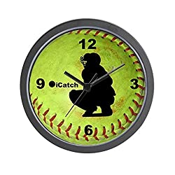 CafePress Fastpitch Softball icatch Wall Clock - Standard Multi-color