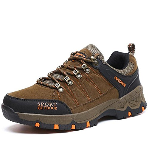 Trekking Non Hiking Sports and Brown Shoes Unisex Spring and Durable Outdoor Suede Slip Casual Autumn Fashion Shoes Sneakers AqOxgZqv