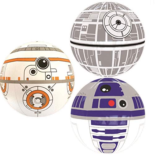 Nino-star Large Beach Ball Set of 3 - Pool Inflatable Water Toys - Fun Summer Gift ()