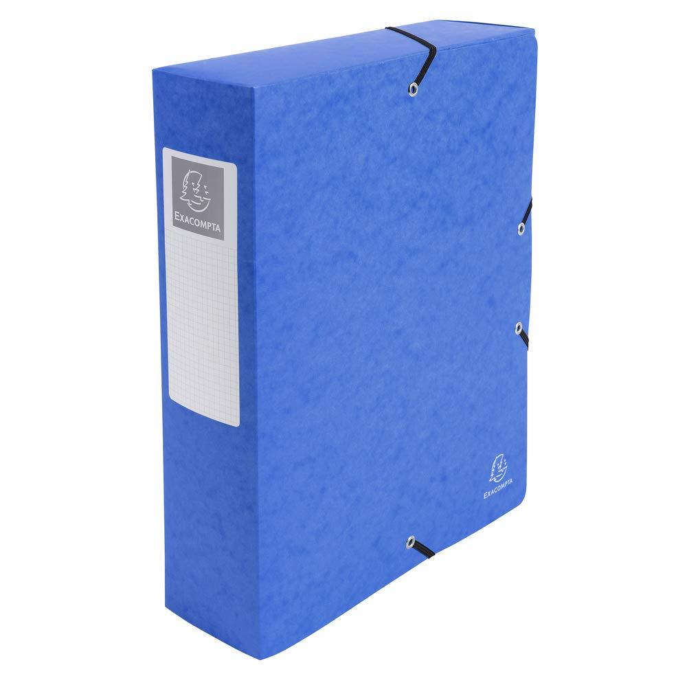 1 St/ück schwarz Manila Karton, R/ückenetikett, R/ücken 80 mm, 600 g, DIN A4 Exacompta 50831E Archivbox