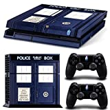 CAN Ps4 Console Designer Protective Vinyl Skin Decal Cover for Sony Playstation 4 & Remote Dualshock 4 Wireless Controller Stickers - Doctor Who