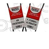 BANDO Honda Prelude vtec 1993 1994 1995 1996 Alternator/Air Conditioner-Power Steering Belt Set(2 belts) BANDO 4PK1020 6PK1045