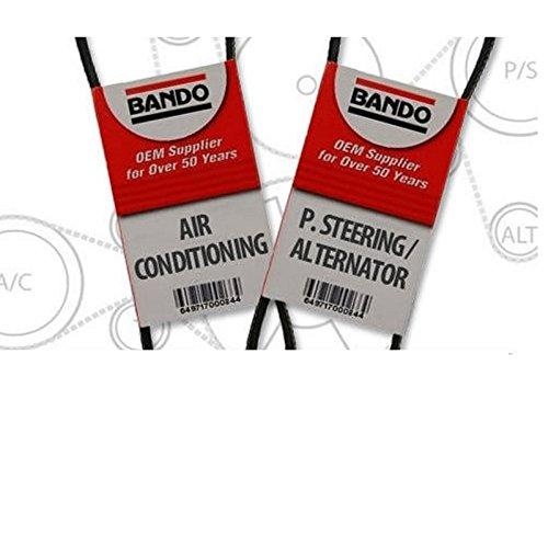 (BANDO Accessory Drive Belt Set (2 Piece) Fits Nissan Altima(2.4L) 1998 1999 2000 2001 Serpentine Drive Belt set for Pulleys )