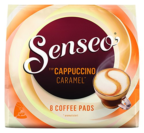Senseo Coffee Pads Cappuccino Caramel, Coffee with Caramel Flavour, New Recipe 10 Pack, 10 x 8 - Senseo Coffee Pods Cappuccino
