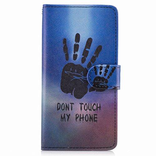 Yiizy Samsung Galaxy J5 Prime (G570, G570F/DS, G570Y) Custodia Cover, Mano Fredda Design Sottile Flip Portafoglio PU Pelle Cuoio Copertura Shell Case Slot Schede Cavalletto Stile Libro Bumper Protetti
