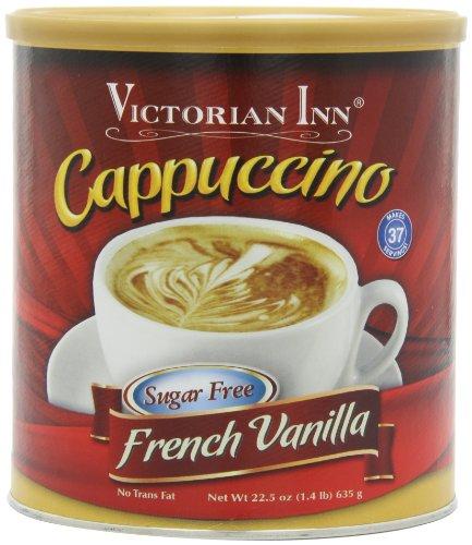 (Victorian Inn Instant Cappuccino, Reduced Sugar French Vanilla, 1.4 Pound)