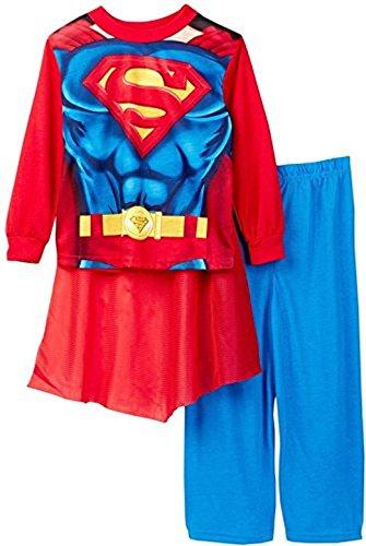 SUPERMAN Super Hero Boy's Size 10 Caped Costume Pajama Pants Set