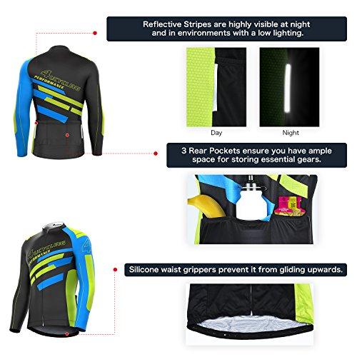 Jual 4ucycling Men s Full Zip Moisture Wicking Long Sleeve Cycling ... 2cf4b38fa