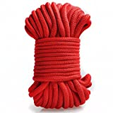 Angel Kiss Red Cotton Rope -( 32-foot /10m) - Natural Soft...