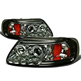 Ford F-150/Expedition Dual Halo Projector+LED Headlight (Smoke Lens Amber Reflector)