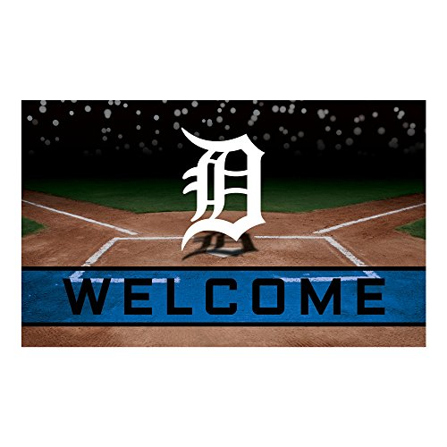 - FANMATS 21918 Team Color Crumb Rubber Detroit Tigers Door Mat