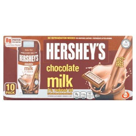 Hershey's 2% Chocolate Milk (10) 8 oz cartons - Case of 4 - Total 40