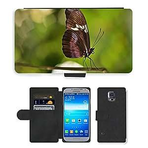 PU LEATHER case coque housse smartphone Flip bag Cover protection // M00108266 Mariposa de la naturaleza animal de // Samsung Galaxy S5 S V SV i9600 (Not Fits S5 ACTIVE)