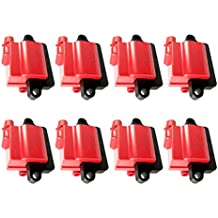 REV Ignition High Performance Ignition Coil Set of 8 GM Square Type Coil 12558693 1999-2009