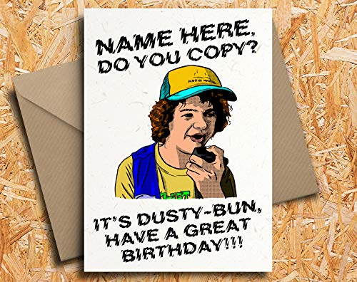 Stranger Things Dustin Personalised Birthday Card Never Ending Story By Blind Eye Design Buy Online In Cambodia Missing Category Value Products In Cambodia See Prices Reviews And Free Delivery Over 27 000 Desertcart