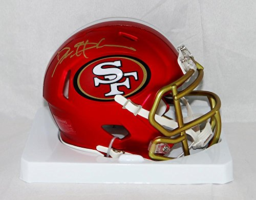 Deion Sanders Signed San Francisco 49ers BLAZE Mini Helmet- JSA W Auth Gold
