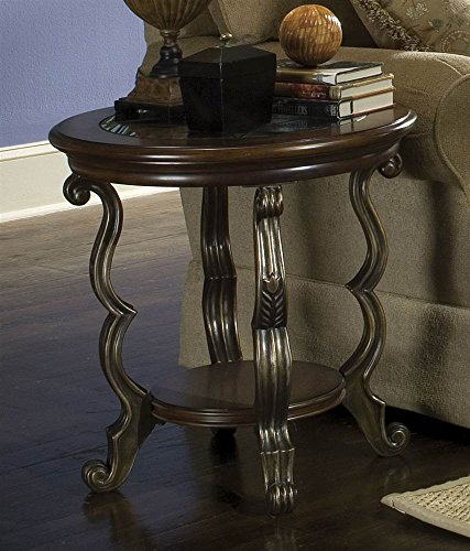 Riverside Furniture Ambrosia Round Side Table in Terra-Sienna Finish