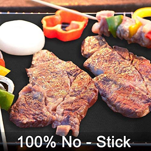 MRZHW Tapis de Gril pour Barbecue Tapis de Gril antiadhésif en téflon Tapis de Gril de qualité supérieure réutilisable jusqu'à 260 ° C 500