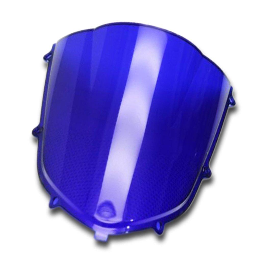 Motorrad Windschutzscheibe Shield Wind Screen Windschutzscheibe fü r Kawasaki Ninja ZX10R 2004-2005 (Multi) WS0054