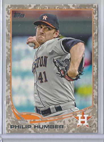 2013 Topps Series 2 Baseball Philip Humber Camo Border Card # 83/99