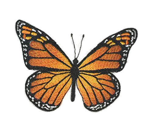 Custom and Unique Amazing Colorful Butterflies[ Monarch ] Embroidered Iron On/Sew patch [3.9
