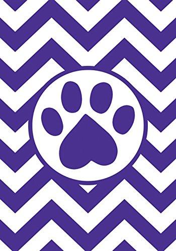 (Toland Home Garden Chevron Paw 12.5 x 18 Inch Decorative Puppy Dog Kitty Cat Animal Pet Garden Flag)
