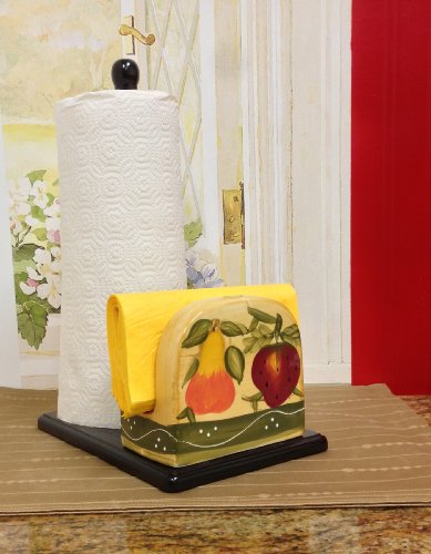 Tuscan Collection Deluxe Hand-Painted Towel and Napkin Holder ()