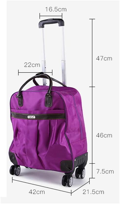 19 Inches Female Luggage Bag Large-Capacity Travel Bag Minmin-lgx Universal Wheel Trolley Bag Color : Multi-Colored Boarding Portable Light Travel Bag