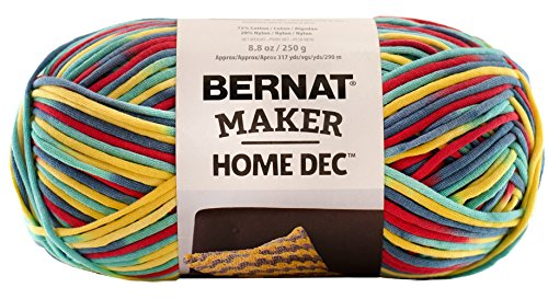 Bernat  Maker Home Dec Yarn - (5) Bulky Chunky Gauge  - 8.8 oz -  Fiesta Variegate  -   For Crochet, Knitting & (Fiesta Knitting Yarn)