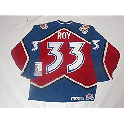buy online 2bc73 262dd Signed Patrick Roy Jersey - Ccm 1996 Stanley Cup Hof Coa ...