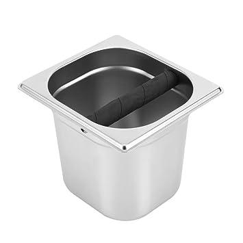 Caja de Golpe de Café,Asixx,Caja de Residuos de Café,de Acero Inoxidable,Para La Máquina de Café Doméstica Y Profesional,Plata(L): Amazon.es: Hogar