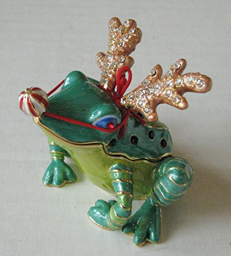 Bejeweled Collection Department 56 Wannabe Reindeer Frog Jeweled Box