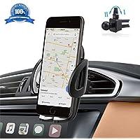 Soporte Movil Coche Ventilación Universal 360 grados Rotación IZUKU Porta Movil Coche para Rejillas del Aire de Coche para iPhone x/8/7/6 Plus/6s/6/5s/SE, Android Smartphone y GPS Dispositivo