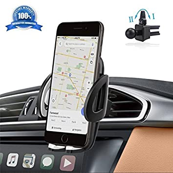 Soporte Movil Coche, Sostenedor de Teléfonos Móviles Universal IZUKU [Rotación de 360 grados]