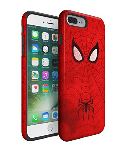 The Amazing Spiderman Grunge 2 Piece Hard Plastic + Shock Absorbing TPU Bumper Tough Case Cover Shell For iPhone 7 Plus
