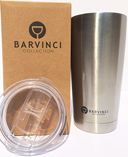 Lilfoot 20 Oz. Vacuum Insulated Stainless Steel Travel Tumbler with New Straw-Friendly Slider Lid!!