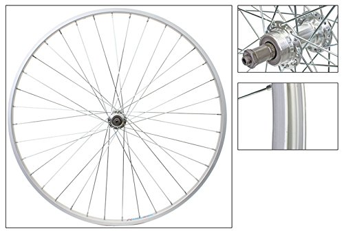 Wheel Rear 700 x 25, WEI-AS23X, QR Alloy FW 5/6/7 spd Silver Hub, 14g UCP spokes, 36H (Alloy Rear 700c Wheel)