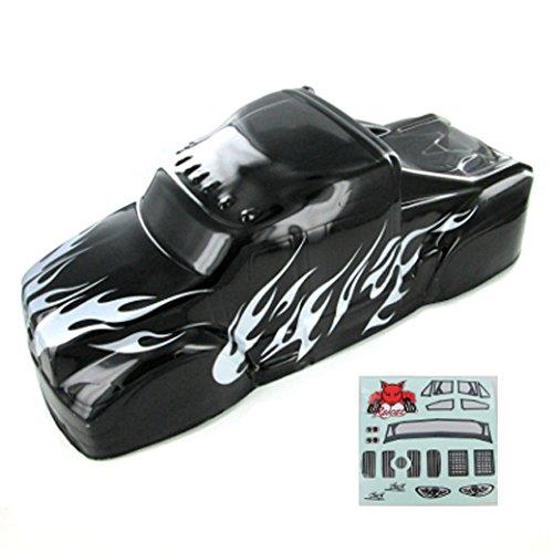 Redcat Racing BS801-017 Semi Truck Body (1/8 Scale, Black/Silver)