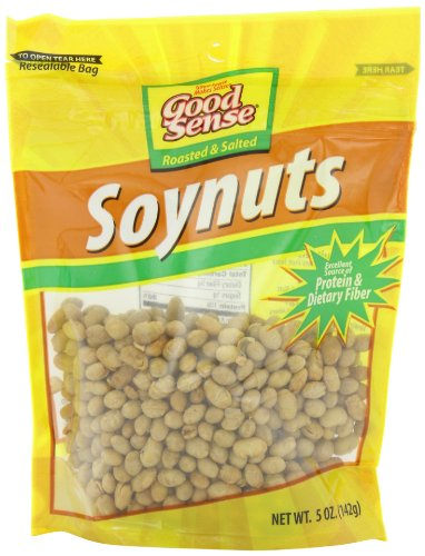Good Sense Roasted & Salted Soynuts, 5-Ounce Bags (Pack of 12) -