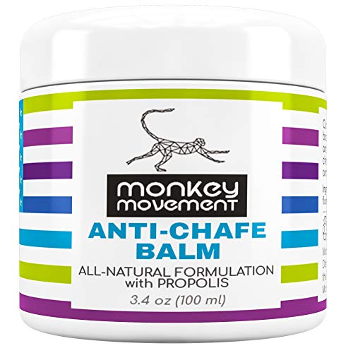 Monkey Movement Anti-Chafe Chamois Balm: All Natural Chafing Relief with Propolis - Water and Sweat Resistant Blister Balm