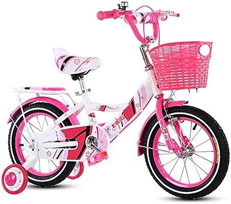 ZCRFY Bicicleta para Niños 3-13 Años Pequeños Niñas Estudiante Bebé Ajustable Mejorados Macho Y Hembra Cómodo Regalo Seguro Bicicletas Infantiles De Freno,Pink-18Inches: Amazon.es: Deportes y aire libre