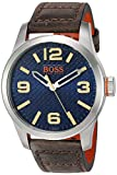 BOSS Orange Men's 'Paris' Quartz Stainless Steel and Beige Leather Casual Watch (Model: 1513352)