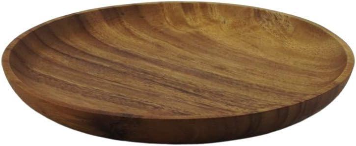 /Ø 20 25 30 cm /Ø 20cm Akazienholz Fair Trade Gruener Handel Holzteller Rustikal Rund