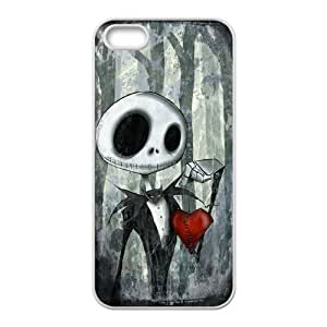 CeeMart The Nightmare Before Christmas Pattern Plastic Hard Case TPU Phone case cover for iphone5 5s white