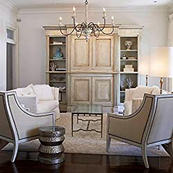 LALUZ 6-Light French Country Chandelier Distressed