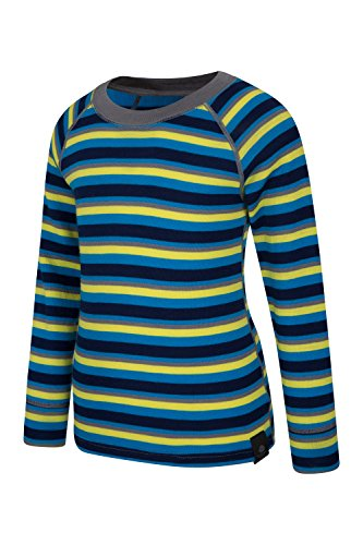 Mountain Warehouse Merino Kids Top- Breathable, Light Childrens Tshirt Blue 5-6 Years by Mountain Warehouse (Image #3)