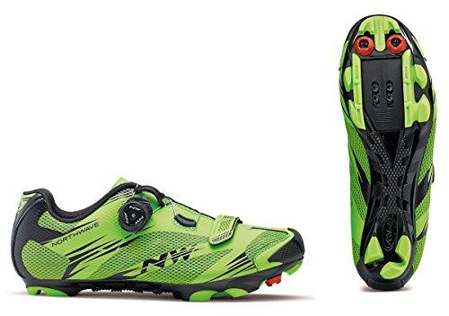 Northwave Zapatillas de Ciclismo de Material Sintético Para Hombre Verde Verde